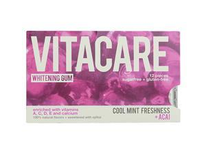 Whitening Gum Cool Mint + Acai - Vitacare - 12 pcs - Pack