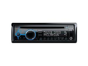 CLARION CZ302 Single-DIN In-Dash CD Receiver with Front USB Port, Bluetooth(R) & SiriusXM(R) Ready