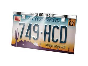 BOYO VTL405HDL Ultra Slim License Plate HD Camera with LED Lights Chrome