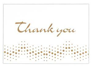Mead Products 90020 4in X 5-3/4in Gold Embossed Thank You Notes 10 Count