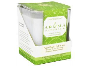 Aroma Naturals 814681 Soy Candle Peace White Large Glass