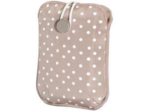 FUJIFILM 600012058 Tan Polka Dot Camera Slip Case