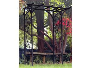 Panacea 84inx76inx26in Black Garden Arbor With Vines