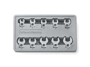 KD Tools 81909 10-Piece 3/8-inch Drive Metric Crowfoot Wrench Set