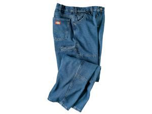 Dickies 15293SNB38x32 Indigo Blue Stone Washed Workhorse Jeans - 38-inch x 32-in