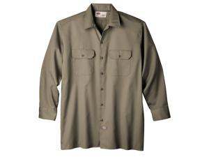 Dickies WL574KHMED Mens Long Sleeve Work Shirt, Khaki - Medium