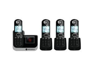 Motorola L804 cordless Telephone with 4 Handsets and Digital Answering System