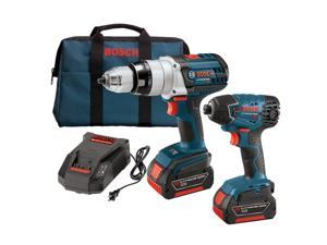 CLPK221-181 18V Cordless Lithium-Ion 1/2 in. Hammer Drill and Impact Driver Combo Kit