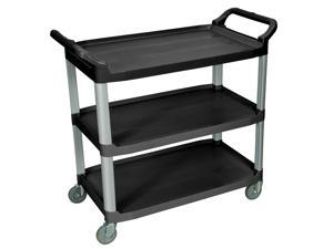 Luxor SC13-B Black 3 Shelf Serving Cart