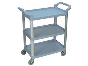 Luxor SC12-G Gray 3 Shelf Serving Cart