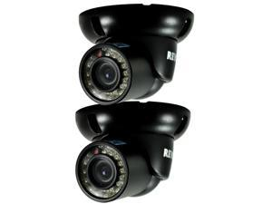 REVO RCTS30-3BNDL2N 700 TVL Indoor/Outdoor Mini Turret Surveillance Camera (2-Pa