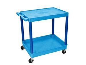 Luxor Butc21Bu 2 Shelf Blue Tub Cart