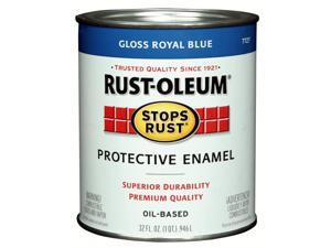 Rustoleum 7727-502 Protective Oil Based Enamel Paint, Royal Blue - 1 Quart