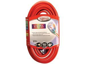 Coleman Cable 50ft. Red & White 12-3 Outdoor Extension Cord  02548-41