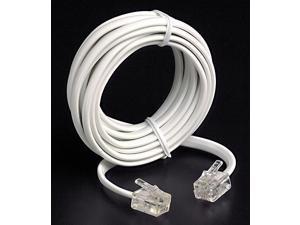 Leviton 834-C2413-7W 7 White Phone Line Cord