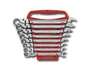 KD Tools 9701 SAE Flex Head Combination Gear Wrench Set - 8-Piece