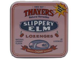 Thayers Slippery Elm Lozenges Cherry -- 42 Lozenges