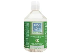 Kiss My Face Peace Soap, All Purpose Castile Soap, Grassy Mint, 17 Ounce