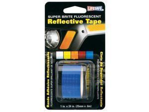 Incom RE185 Super Brite Fluorescent Reflective Tape, Blue - 1-In. X 24-In.