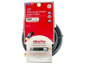 GE 87666 25 RG6 Quad Shield Coax Cable