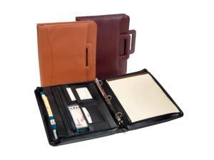 Royce Leather 301-BURG-8 Zip Around Binder Padfolio