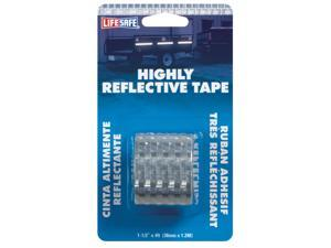 Incom Manufacturing RE802 1-1/2-Inch X 4-Foot Silver Highly Reflective Tape