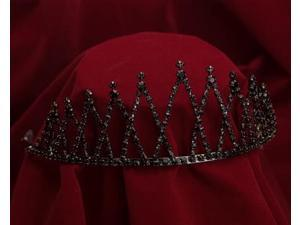 Sunnywood 4006BNK Black Rhinestones And Gun Metal Evil Queen Crown