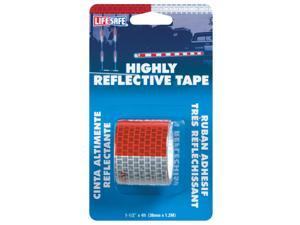Incom Manufacturing RE800 1-1/2-in x 4 Red Silver Reflective Tape