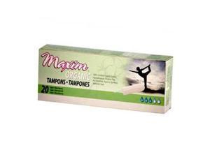 Organic Cotton Non Applicator Tampons Super - Maxim Hygiene Products - 20 - Tampon