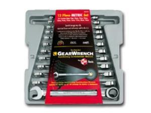 KD Tools 9412 Metric Ratcheting Combination Gearwrench Set - 12-Piece