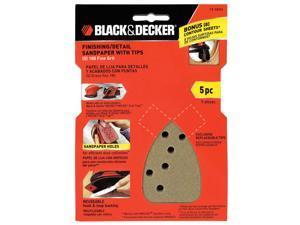 Black and Decker 74-584H Mouse Finishing Sandpaper - 5-Pack - 180-Grit