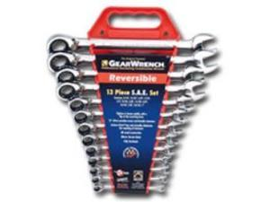 KD Tools 9509 SAE Reversible Ratcheting Combination GearWrench Set - 13 Piece