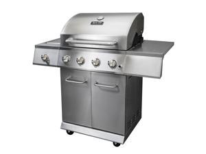 Dyna-Glo 4-Burner Gas BBQ Grill with Side Burner, Stainless Steel - DGE486SSP-D