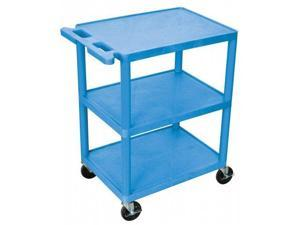Luxor He34-Bu 3-Shelf Utility Cart