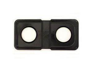 Range Kleen Black Porcelain Rectangular Gas Stove Drip Pans  P501