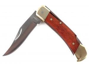 Schrade Uncle Henry Smokey Pocket Knife with Leather Sheath
