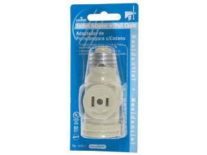 Leviton L12-1406-W 2-Outlet Lamp Socket and Pull Chain, White