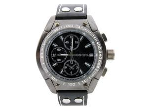 Geneva Men's Large Round Face Watch w/ Strap Band
