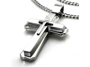 Tioneer P30201 Stainless Steel Men's Cross Pendant
