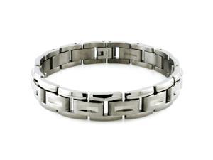 Tioneer B20148 Titanium Indented Ornate Link Bracelet