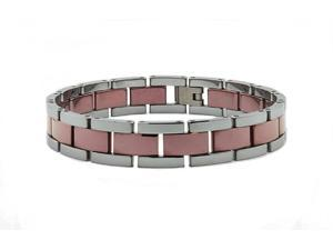 Two Tone Brown Tungsten Carbide Men's Bracelet