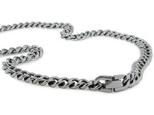 Steel Curb Necklace