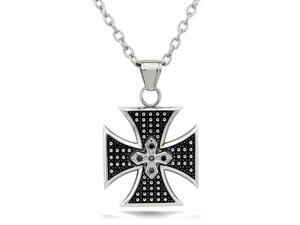Biker Stainless Steel Cross Pendant