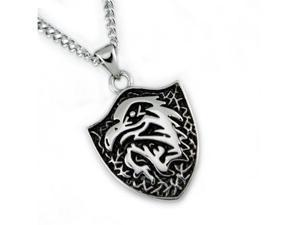 "Stainless Steel Men's ""Eagle"" Pendant w/ 24"" Curb Chain"