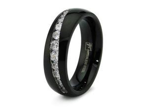 Black Stainless Steel Men's Wedding Band