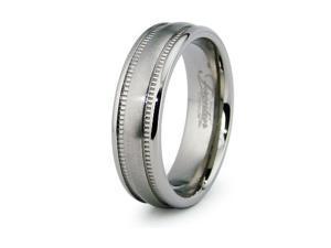 Milgrain Titanium Ring