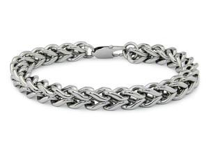 Stainless Steel Men's Square Curb Link Bracelet