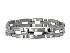 Titanium Bracelet with Sterling Silver Inlay