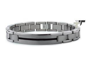 Titanium with Black Resin Inlay ID Bracelet
