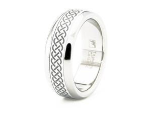 Celtic Titanium Ceramic Ring Size 14.5